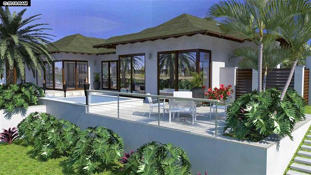 rendering of a new home in wailea golf estates II