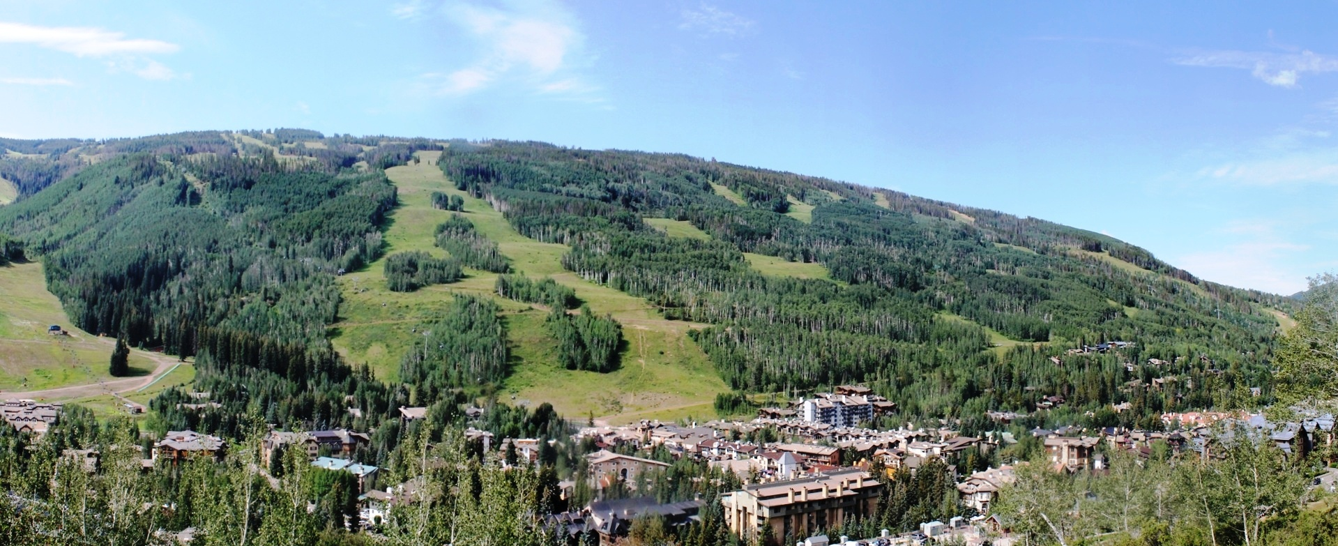Vail Village Overview Summer